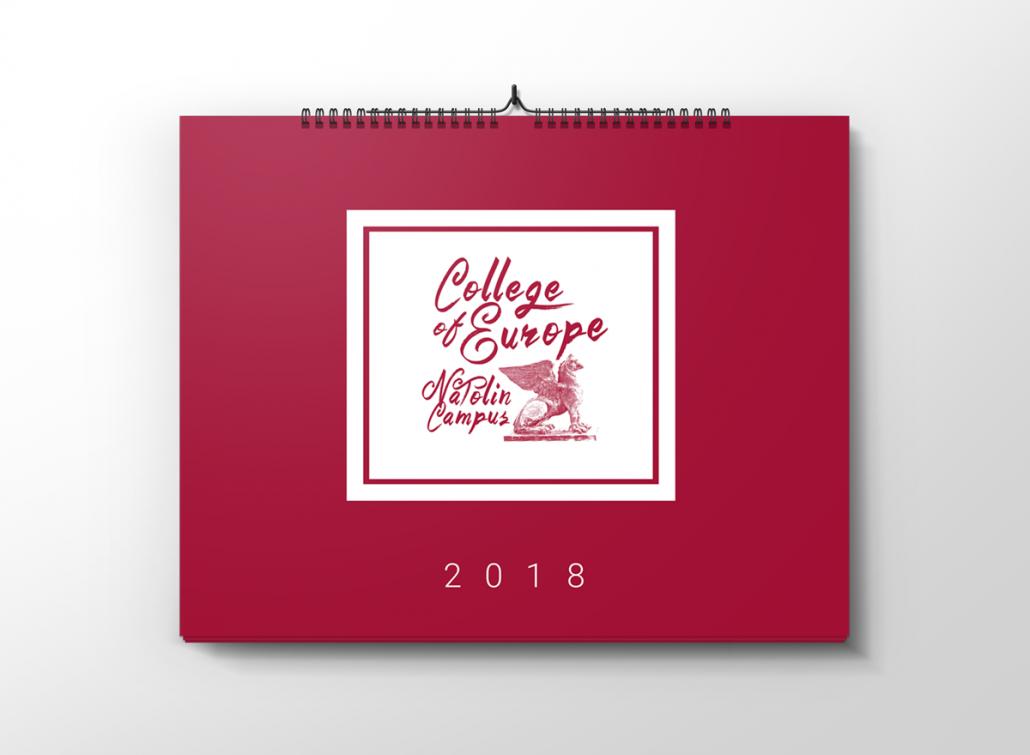 collage of europe projekt kalendarza