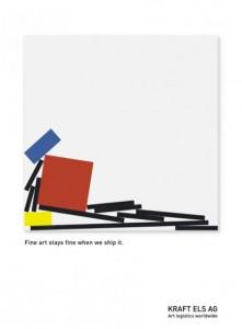 obraz Modriana wykorzystany przez kampanię logistyczną, źródło: www.designer-daily.com