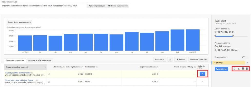 Google KeyWord Planner 6