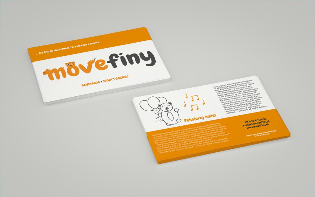 projekt ulotki Movefiny