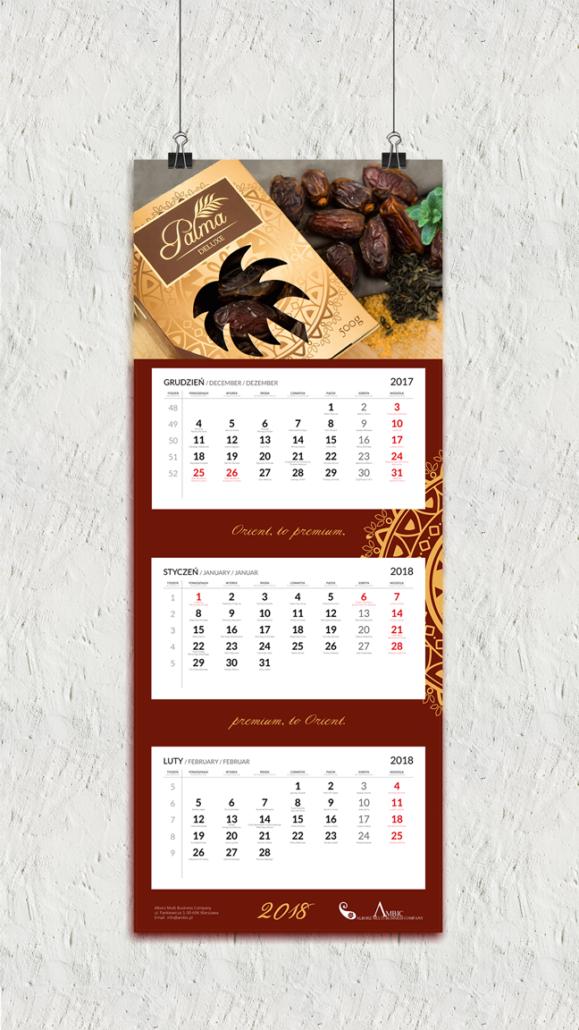 projekt kalendarza trójdzielnego