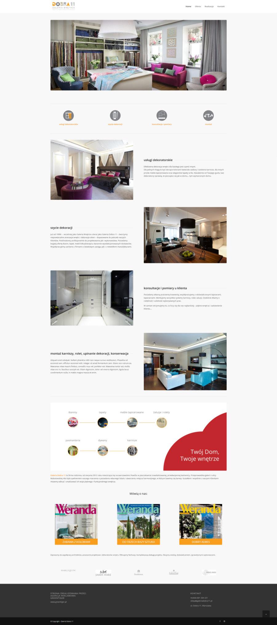 witryna internetowa galeria dobra 11