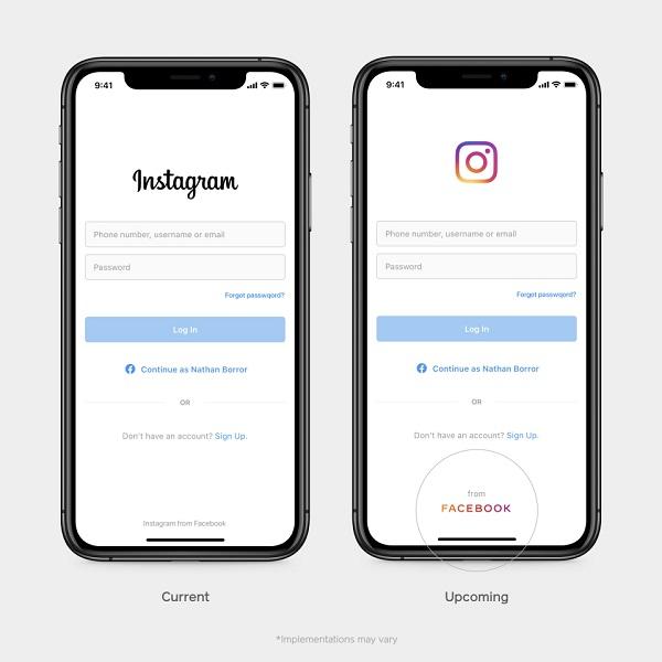 logo facebook na instagram